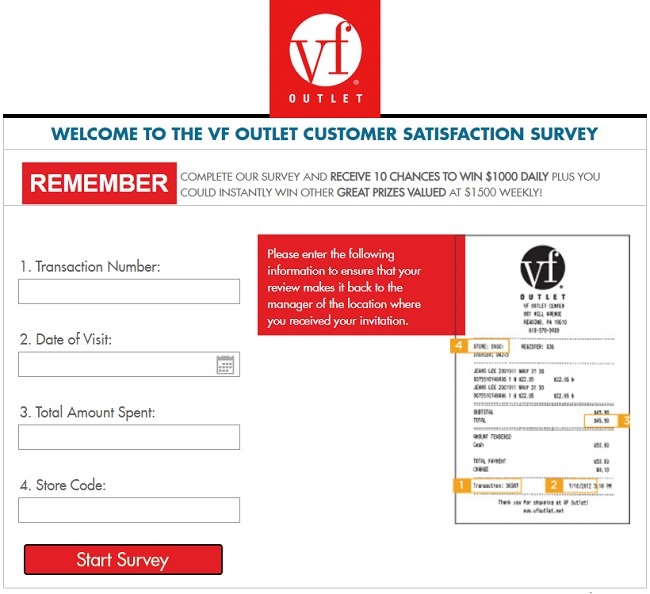vf outlet customer survey