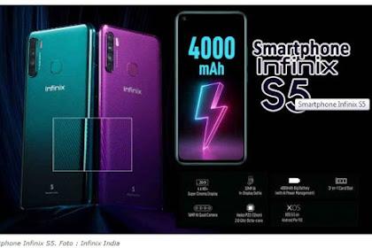 Smartphone baru harga Rp. 1 jutaan dengan 4 kamera Belakang - Infinix S5