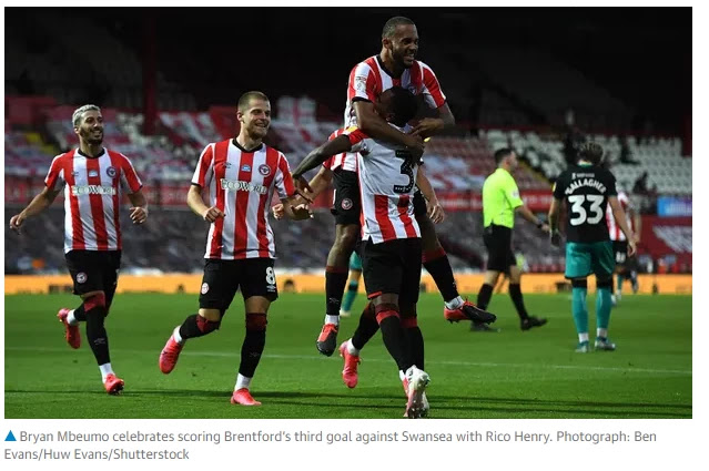 Brentford combat off Swansea to attain play-off ultimate in Griffin Park swansong