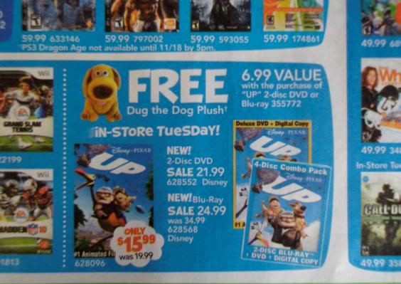 Blu Ray Dvd Exclusives Up Toys R Us Exclusive Dug