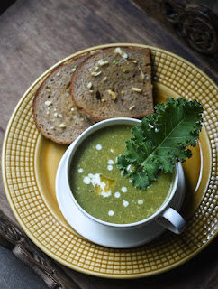 Kale and potato creamy soup recipe