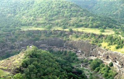 Ajanta caves from a distant view point