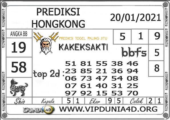 Prediksi Togel HONGKONG DUNIA4D 20 JANUARI 2021