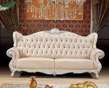 sofa tamu duco putih mewah