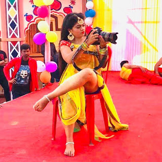nisha dubey shooting picture