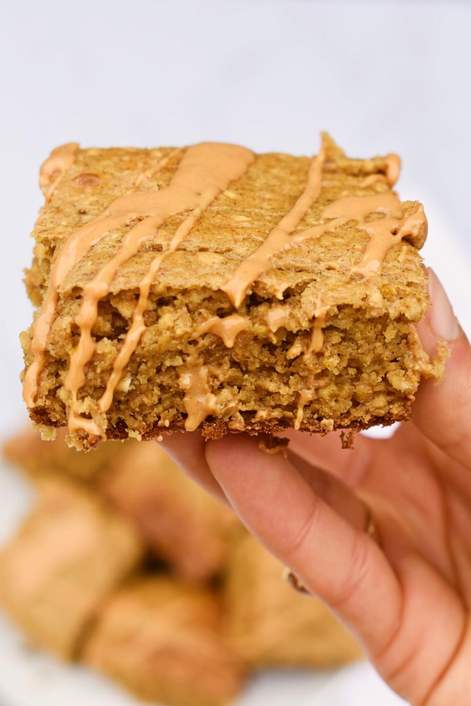 soft peanut butter breakfast bars