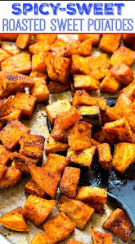Spicy-Sweet Roasted Healthy Sweet Potatoes