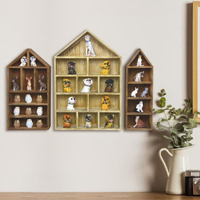 Using a House-Shaped Wooden Shadow Cubby Box Display Shelves