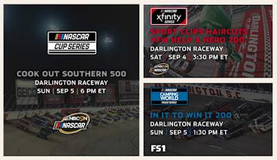 Weekend Race Schedule for Darlington Raceway