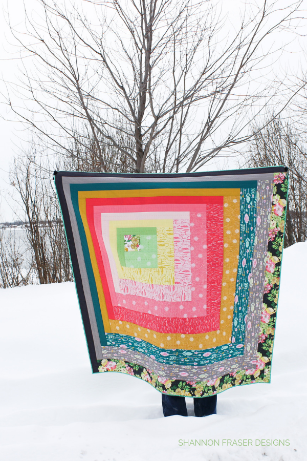 Reverberance Quilt in a winter scenery