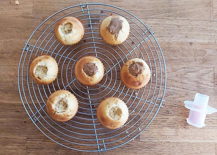 Cupcakes garnis de praliné