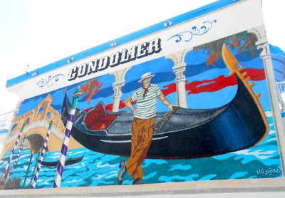 Gondolier Wall Mural Street Art in Wildwood New Jersey