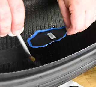 Tire patch ban tubeless