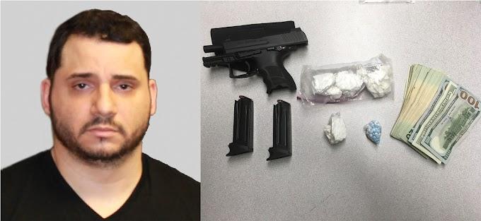 Detienen un dominicano en NH con  cocaína, pastillas ilegales,  una pistola y dinero en efectivo