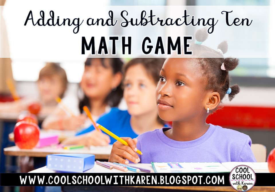 This fun interactive math game for adding and subtracting ten will keep your kids engaged and learning. Check out this post to learn more and see it in action.