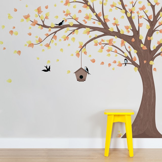 Modern Tree Wall Painting Design With Photos