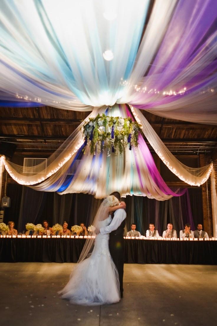 memorable wedding tulle wedding decorations a fantasy in fabric. Black Bedroom Furniture Sets. Home Design Ideas
