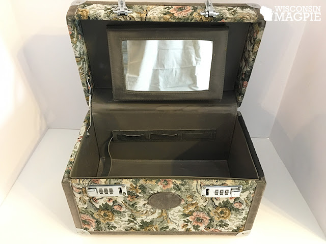 chalk painted suitcase