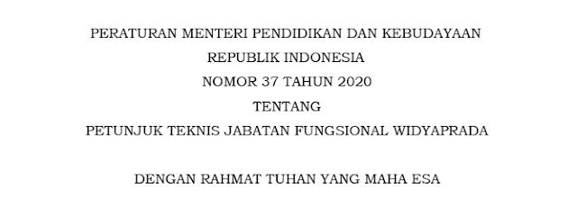 permendikbud nomor 37 tahun 2020 tentang petunjuk teknis juknis jabatan fungsional widyaprada pdf tomatalikuang.com