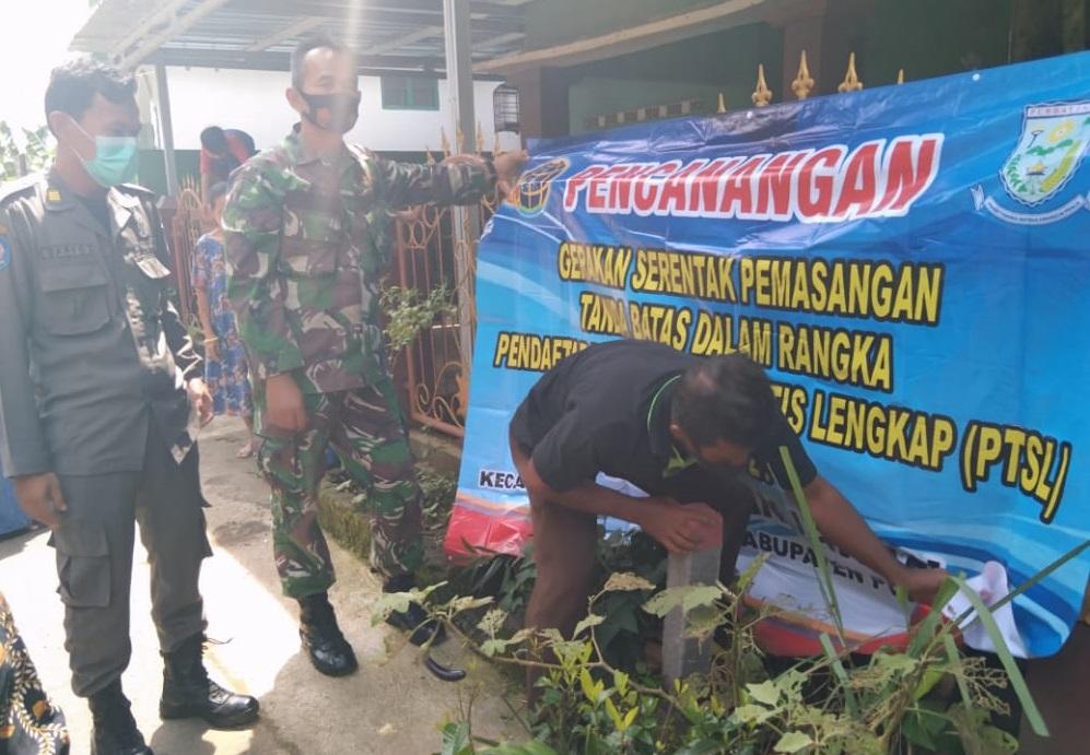 Tanah Milik Warga Banjaran di Pasang Tanda Batas PTSL