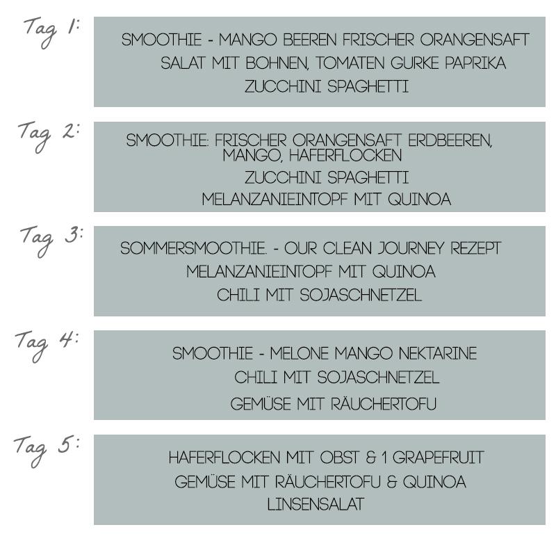 Detox Plan 7 Tage : rezepte fur 3 tage detox beliebte gerichte und rezepte foto blog ~ Frokenaadalensverden.com Haus und Dekorationen