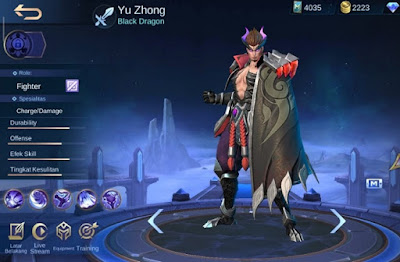 statistik hero yu zhong