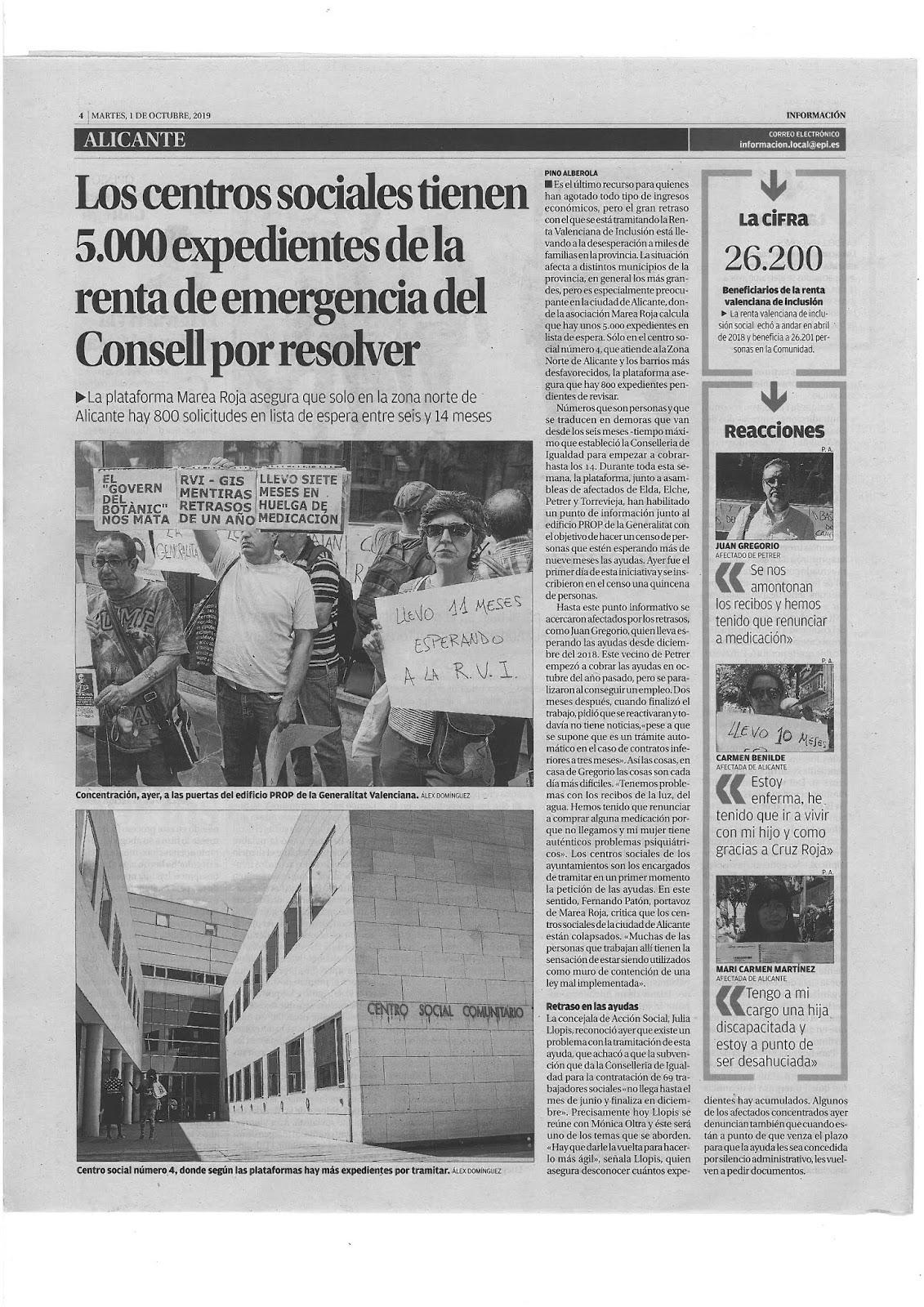Página del periódico