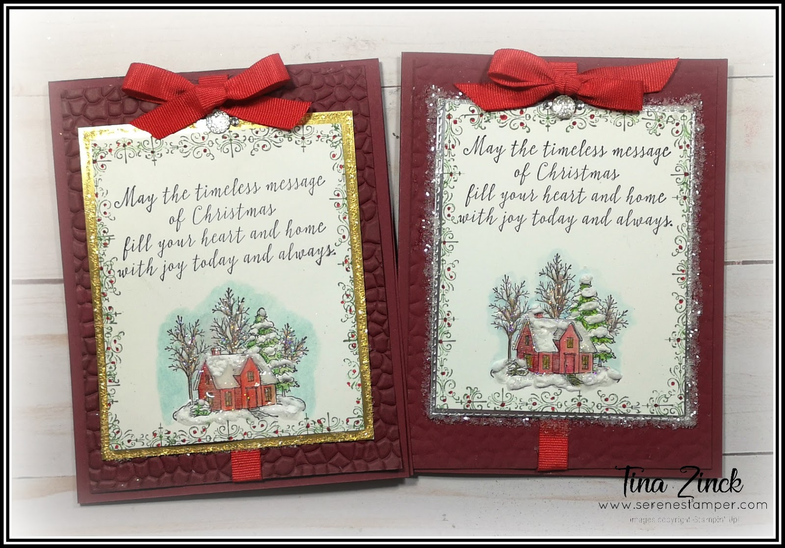 The Serene Stamper Vintage Christmas Cards With Still Scenes Stamp Set Video
