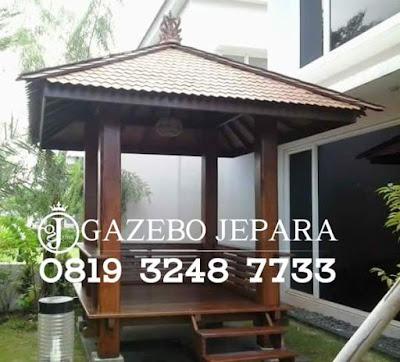Gazebo Jati Atap Sirap