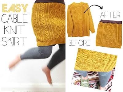 Convertir un jersey de punto en una falda