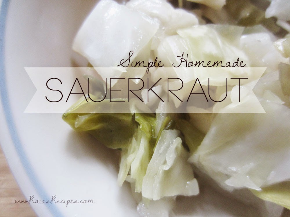 Simple Homemade Sauerkraut | www.RaiasRecipes.com