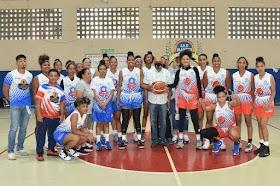Presidente LNB Femenino sorprendido con montaje basket superior  femenino Francomacorisano
