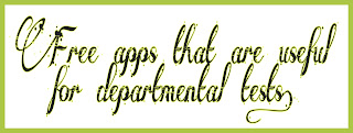 Free apps that are useful for departmental tests.