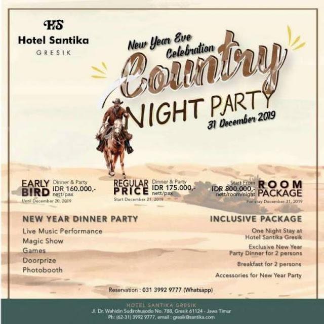 Hotel Santika Gresik Tawarkan Paket Menyambut Tahun Baru 2020 Dengan Promo Country Night Party