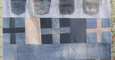 Gefilte Quilt Blue Cross Blue Shield A Modern Upcycled