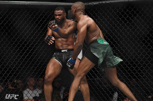 Kamaru Usman defeats Tyron Woodley