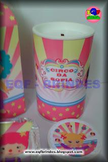 circo rosa, lembrancinha circo rosa, personalizados circo rosa, tema circo rosa, festa circo rosa, brindes circo rosa, personalizados palhacinha