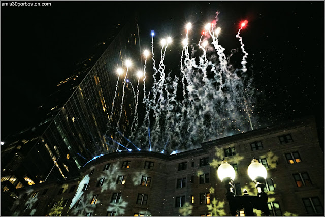 Fuegos Artificiales de la First Night de Boston en Copley Square