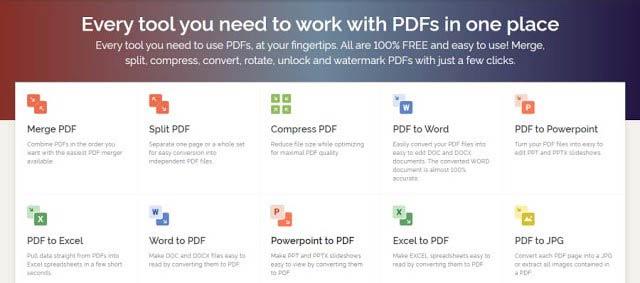 JPG to PDF converter, iLovePDF