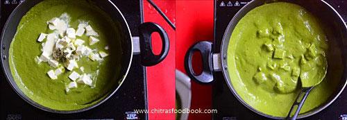 Dhaba style palak paneer recipe