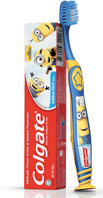 colgate minions toothbrush toothpaste