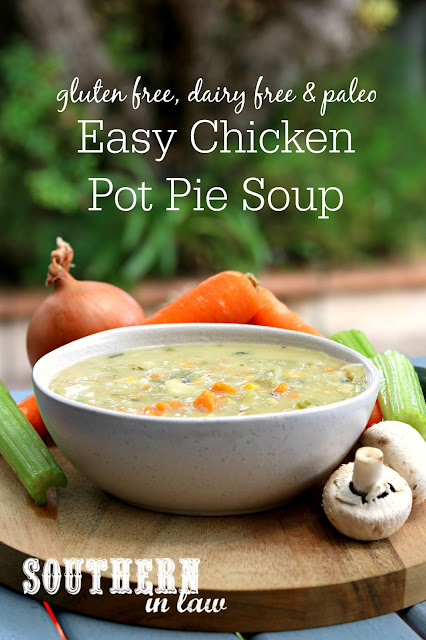 Easy Gluten Free Chicken Pot Pie Soup Recipe – gluten free, dairy free, paleo, vegan, low carb, healthy, whole 30, clean eating