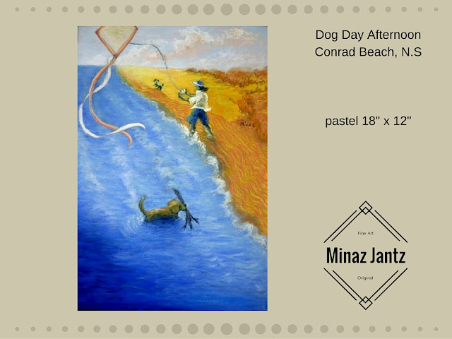 'Dog Day Afternoon', soft pastel by Minaz Jantz