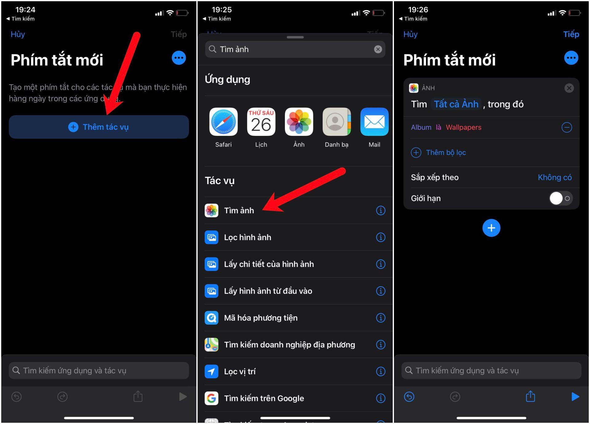 Cách đổi hình nền tự động trên iphone
