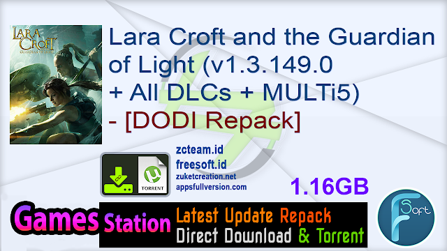 Lara Croft and the Guardian of Light (v1.3.149.0 + All DLCs + MULTi5) – [DODI Repack]