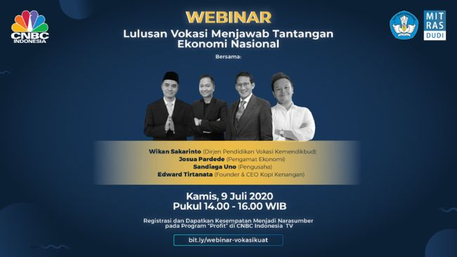 """Webinar """"Lulusan Vokasi Menjawab Tantangan Ekonomi Nasional"""" dari Ditjen Pendidikan Vokasi Kemdikbud"""
