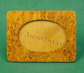 Рамочка для фотографий Овал Карельская берёза, 10х15, горизонтальная