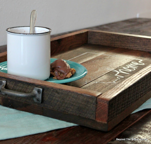 how to build a rustic farmhouse tray from reclaimed barn wood