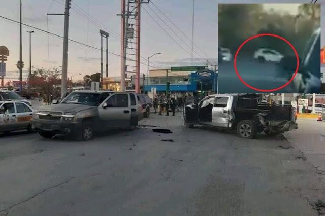 """Video.- """"A hierro Vivian a Hierro murieron"""" Zetas de Las Tropas del Averno así iban escapando del Ejercito en Nuevo Laredo."""