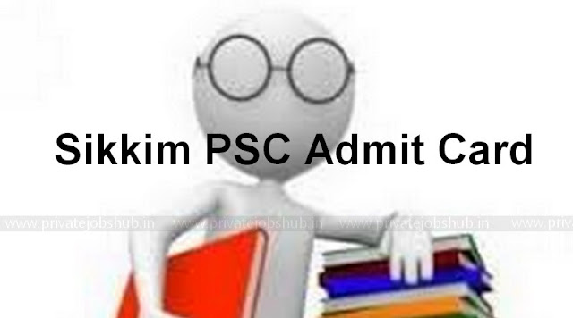 Sikkim PSC Admit Card